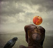 A Clock, A Peach and A Crow by pattipics