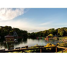 Peasholm Park at Sunset Photographic Print