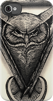 Owl Portrait by Brandon  Dover
