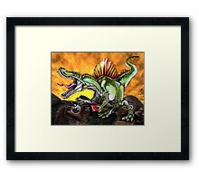 Caffeinosaurus II Framed Print
