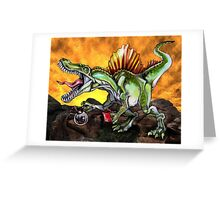 Caffeinosaurus II Greeting Card