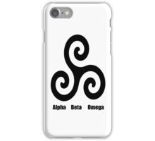 Triskele - Alpha, Beta, Omega iPhone4 case iPhone Case/Skin