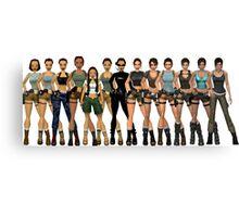 Tomb Raider Lara Croft All Generations Canvas Print