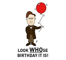 A Doctor Who themed Birthday Card 2 Photographic Print