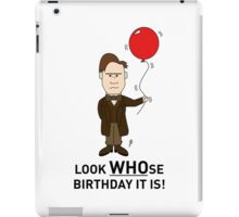 A Doctor Who themed Birthday Card 2 iPad Case/Skin