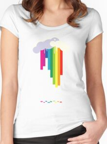Raining Rainbows Women's Fitted Scoop T-Shirt