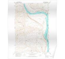 USGS Topo Map Washington State WA West Bar 244615 1966 24000 Poster