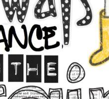 dance in the rain Sticker
