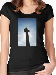 Cornish Cross Women's Fitted Scoop T-Shirt