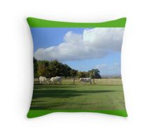 Cows and Clouds at Chatelherault Throw Pillow