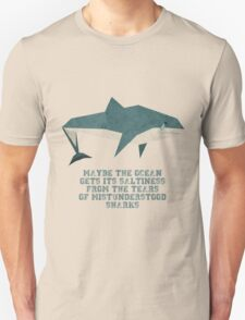 Sad Sharks Unisex T-Shirt