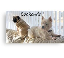 Canine Bookends ! Metal Print