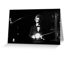 Twain & Tesla Greeting Card