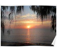 Over-The-Ocean Sunrise Poster