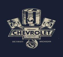 Classic Piston Logo Chevrolet Dark Colours by No17Apparel