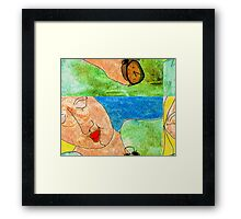 Sleeping Patern Framed Print