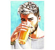 Zayn-Orange Juice Photographic Print
