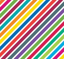 Colorful Diagonal Candy Stripes by Paul Lancaster