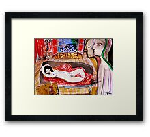 the sanctuary of desires Framed Print