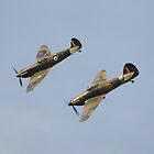 Hawker Hurricane MK12A and Supermarine Spitfire MK1 by Nigel Bangert