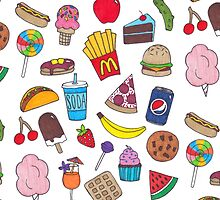 Yummy Foods Drawing by lyrics-and-such