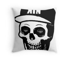 Kill The Noise Drawing Skull Throw Pillow