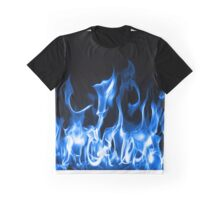 Blue Flames Graphic T-Shirt