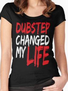 Dubstep Changed My life (red) Women's Fitted Scoop T-Shirt