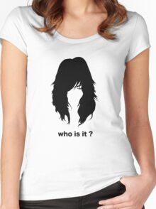 who is it 2 Women's Fitted Scoop T-Shirt
