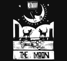 The Moon  - Tarot Cards - Major Arcana by graphixzone101
