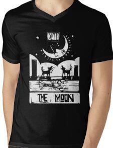 The Moon  - Tarot Cards - Major Arcana Mens V-Neck T-Shirt
