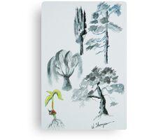 Tree Evolution Canvas Print