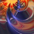 Indian Blanket, fractal, by Alma Lee by Alma Lee