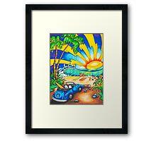 Surf Sunset Framed Print