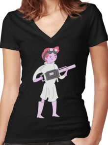 Dr. Gumball Women's Fitted V-Neck T-Shirt