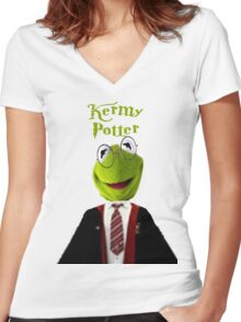 Kermy Potter Women's Fitted V-Neck T-Shirt