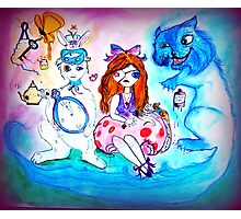 Alice and Friends Photographic Print