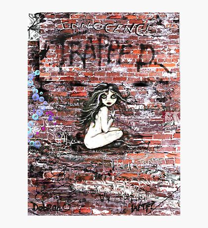 Little Girl Trapped Photographic Print