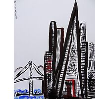 San Francisco Ink Photographic Print