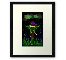Lonley Scarecrow Framed Print