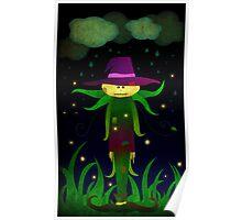 Lonley Scarecrow Poster