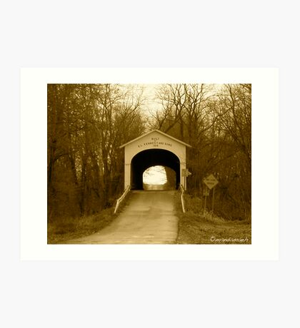 Covered Bridge - Central Indiana Art Print