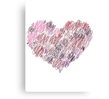 Twisted Heart Canvas Print