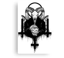 Satan Gets Ahead Canvas Print