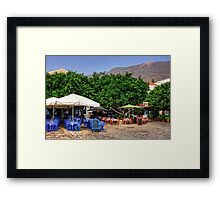 Blue and Red Check Framed Print