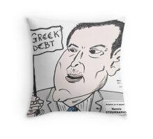 Ministre des Finances grec en caricature Throw Pillow