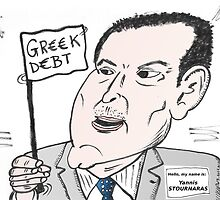 Greek Finance Minister caricature by Binary-Options