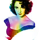 Elizabeth Taylor - Rainbow - Pop Art by wcsmack