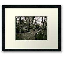Boston Graveyard Framed Print