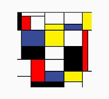 Mondrian Art, Minimalist,  red white blue yellow black T-Shirt